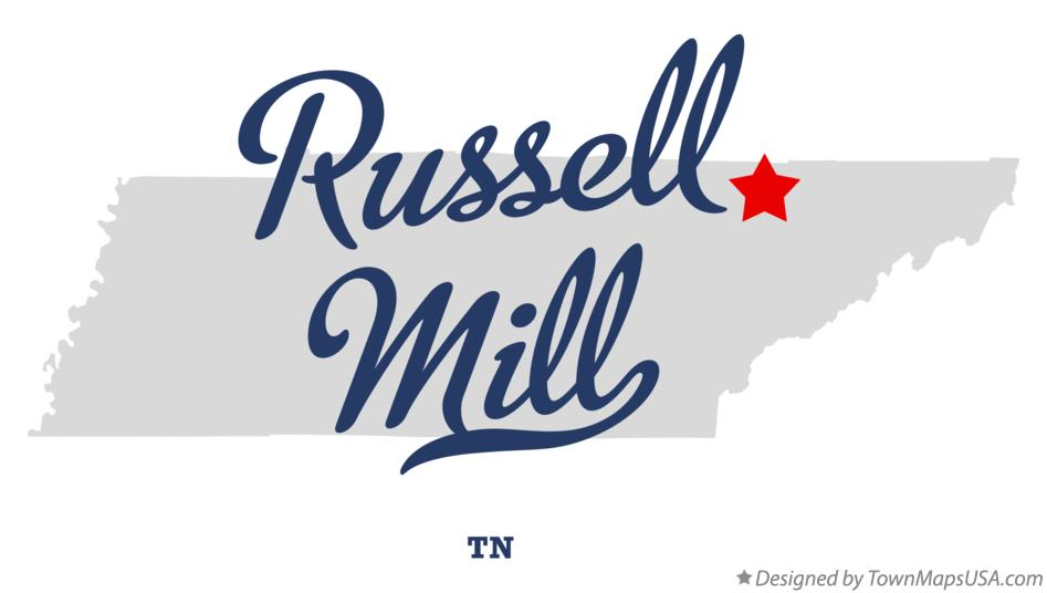 Map of Russell Mill Tennessee TN