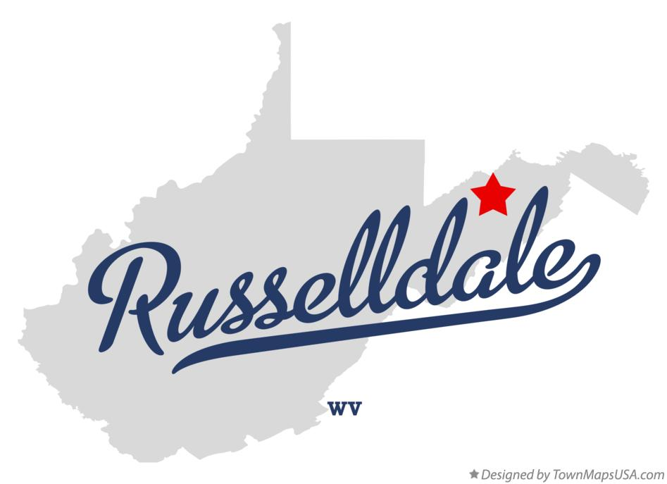 Map of Russelldale West Virginia WV