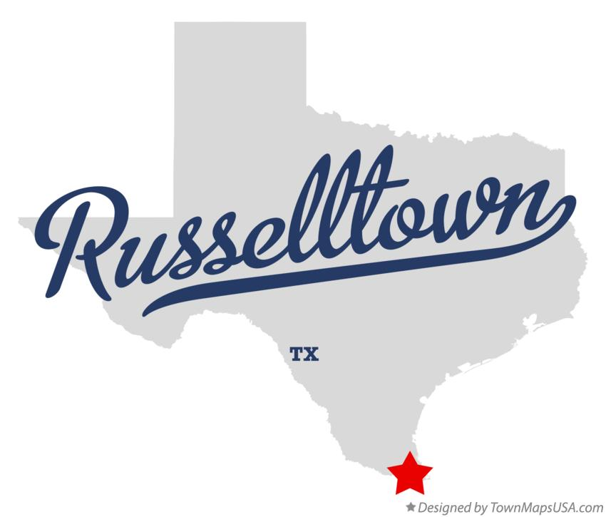 Map of Russelltown Texas TX