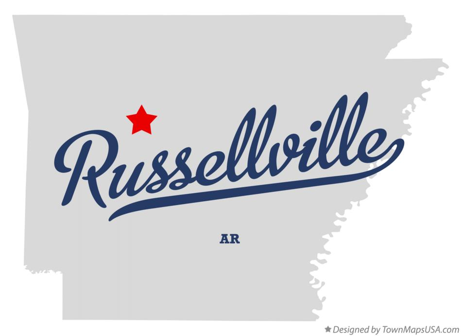 Russellville Arkansas Map.Map Of Russellville Ar Arkansas