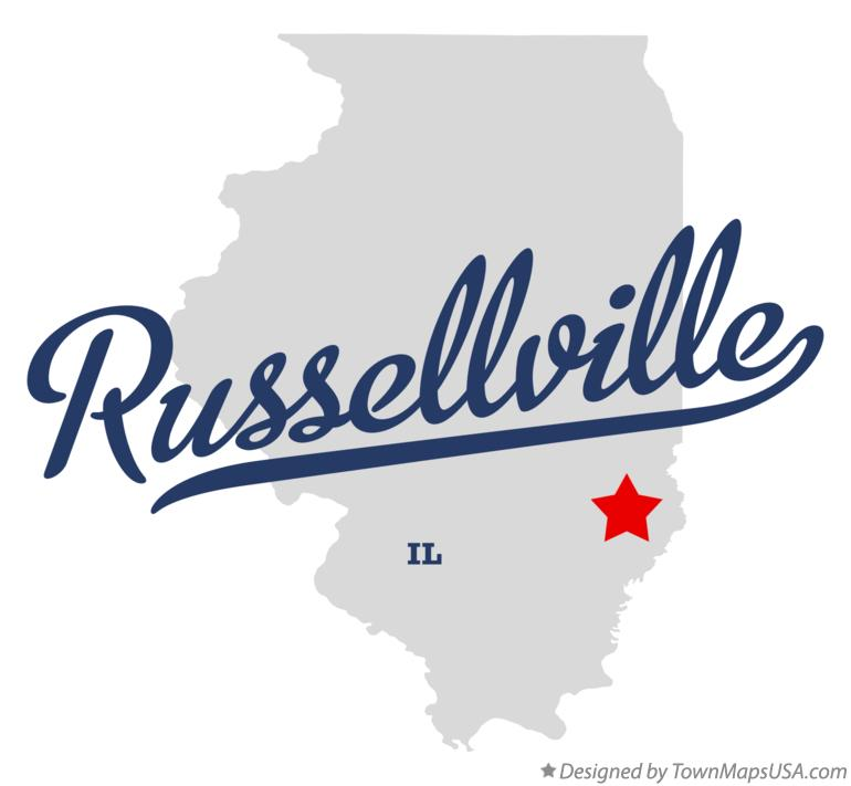 Map of Russellville Illinois IL