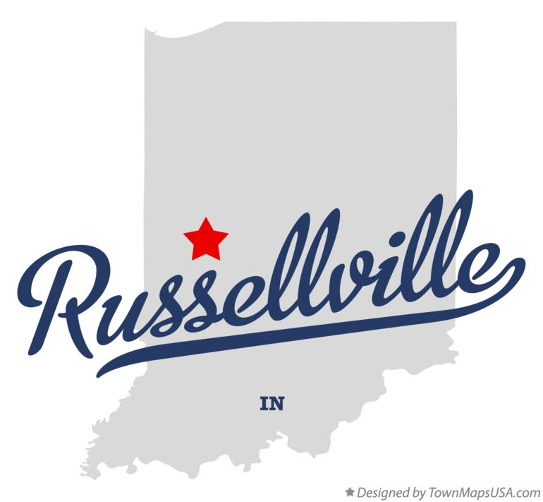 Map of Russellville Indiana IN