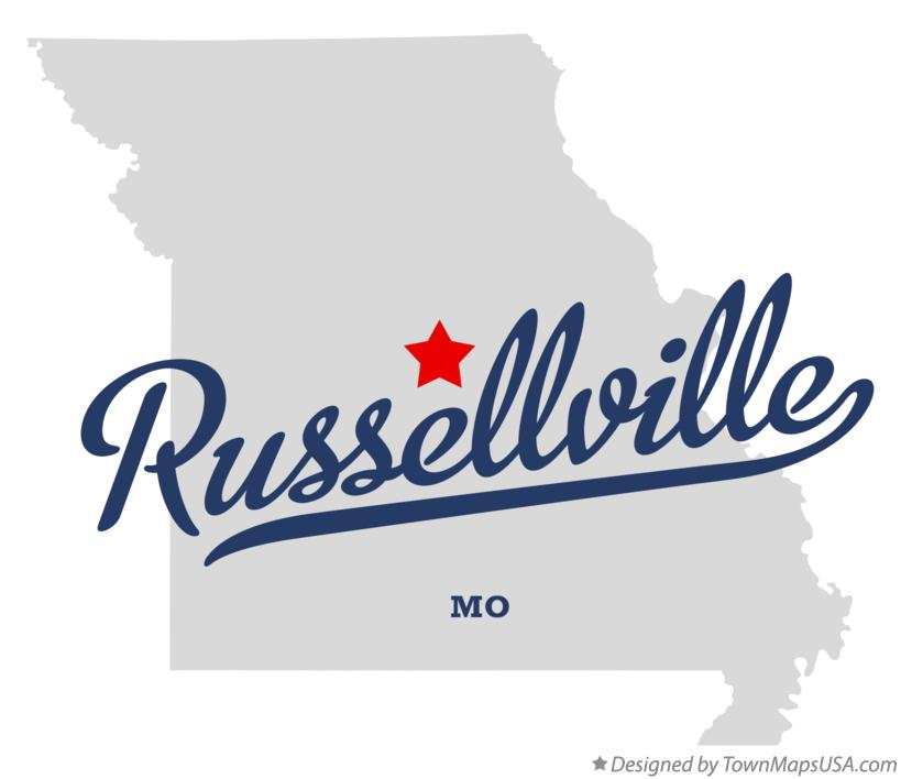 Map of Russellville Missouri MO