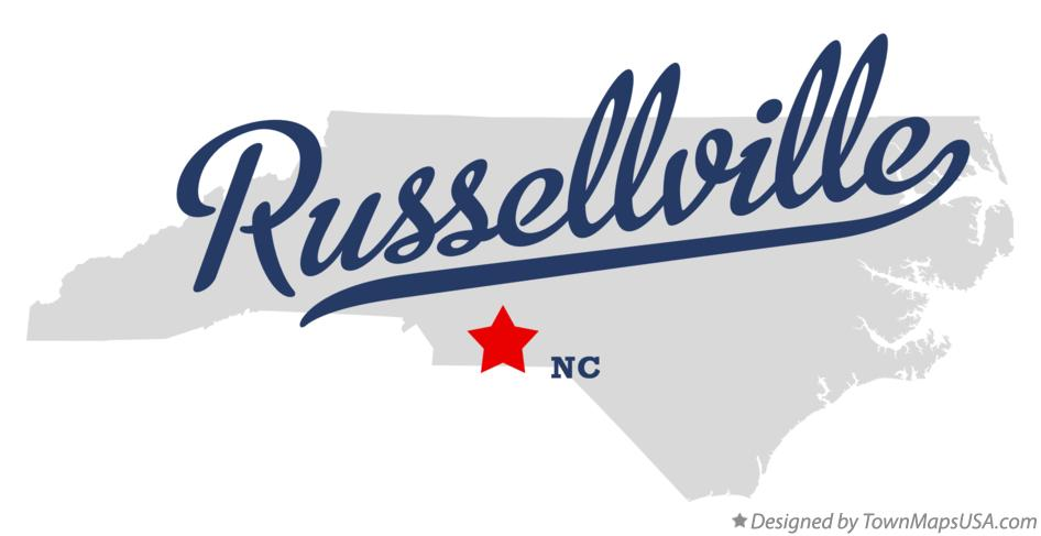 Map of Russellville North Carolina NC