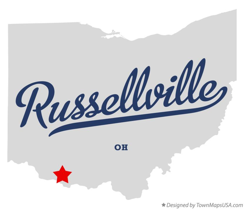 Map of Russellville Ohio OH