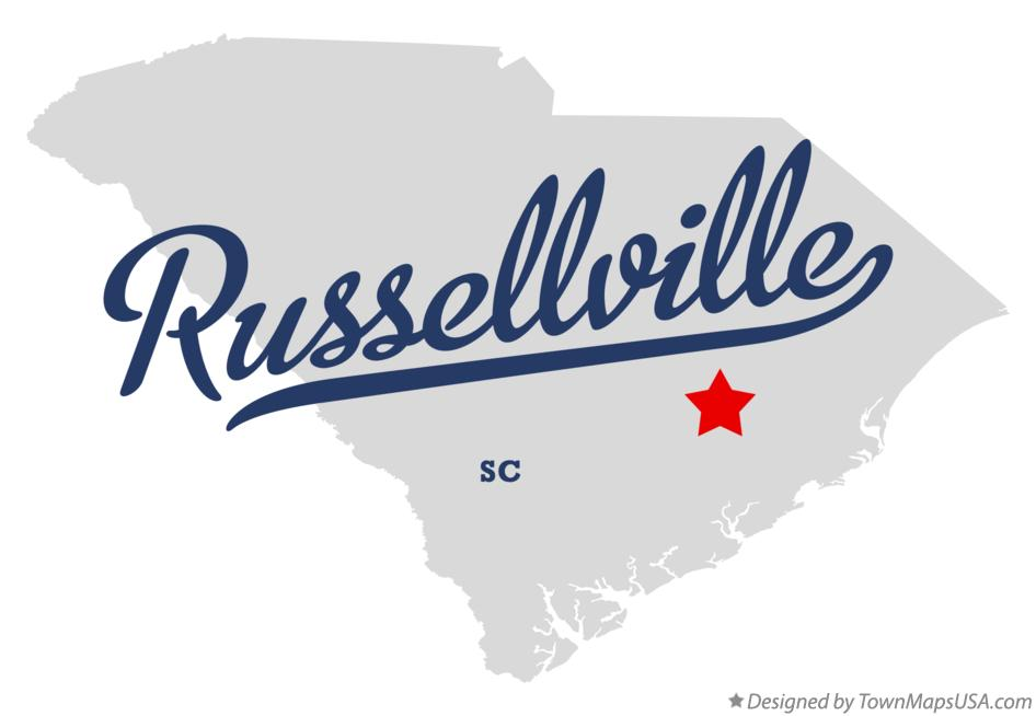 Map of Russellville South Carolina SC