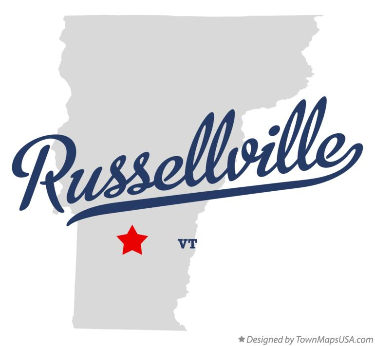 Map of Russellville Vermont VT