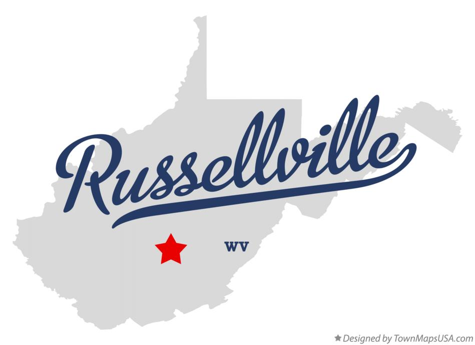 Map of Russellville West Virginia WV