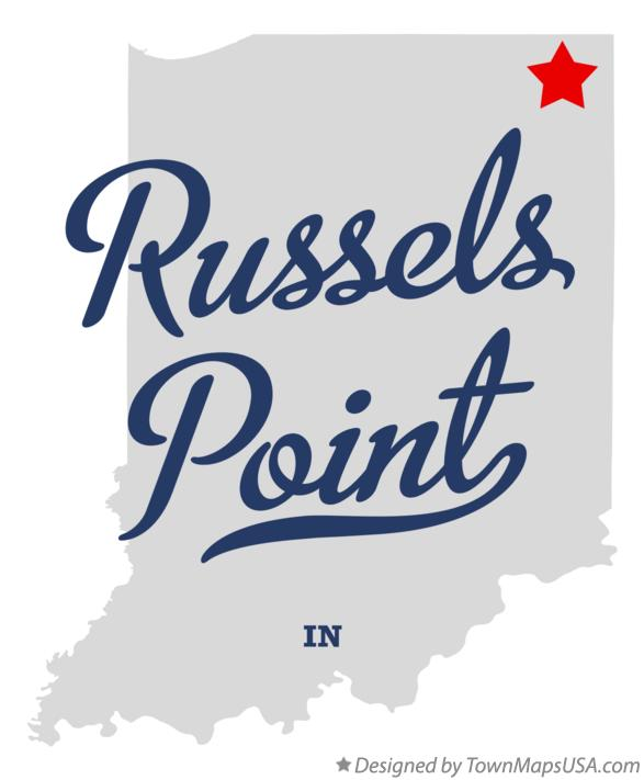 Map of Russels Point Indiana IN