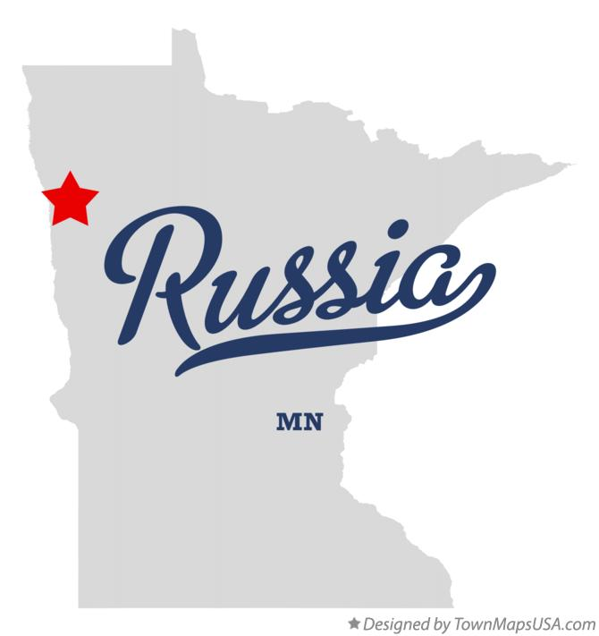 Map of Russia Minnesota MN