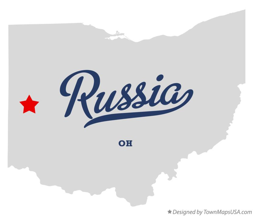 Map of Russia Ohio OH