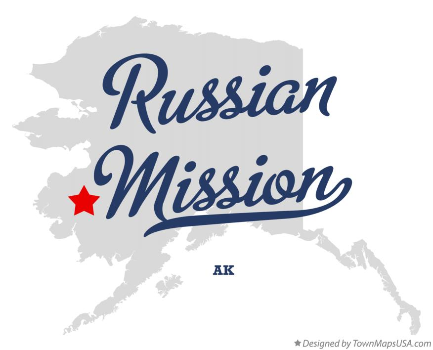 Map of Russian Mission Alaska AK