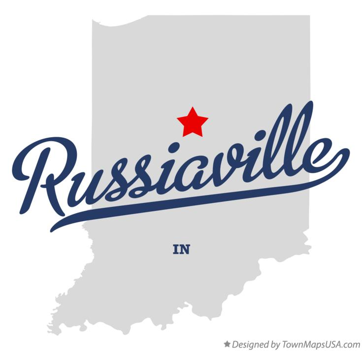 Map of Russiaville Indiana IN