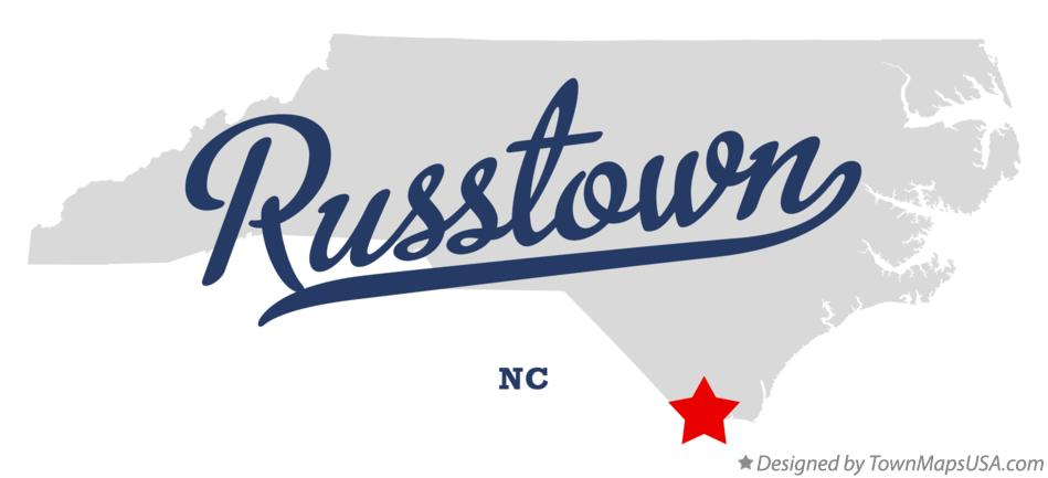 Map of Russtown North Carolina NC