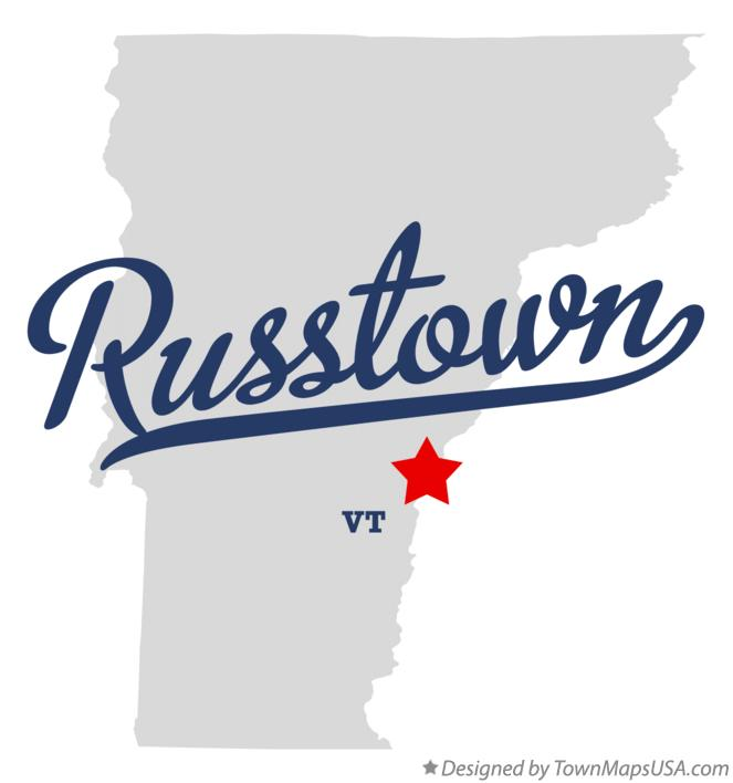 Map of Russtown Vermont VT