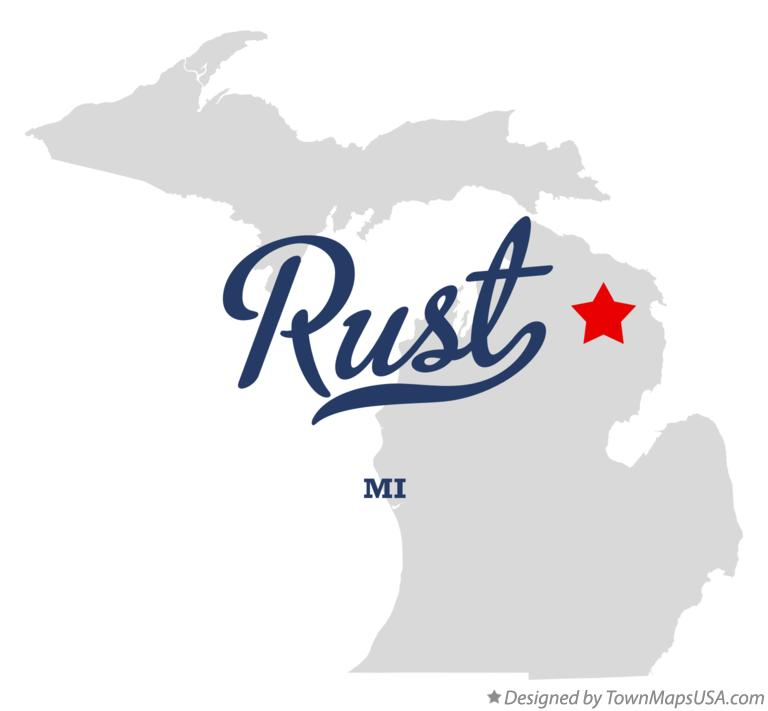 Map of Rust Michigan MI