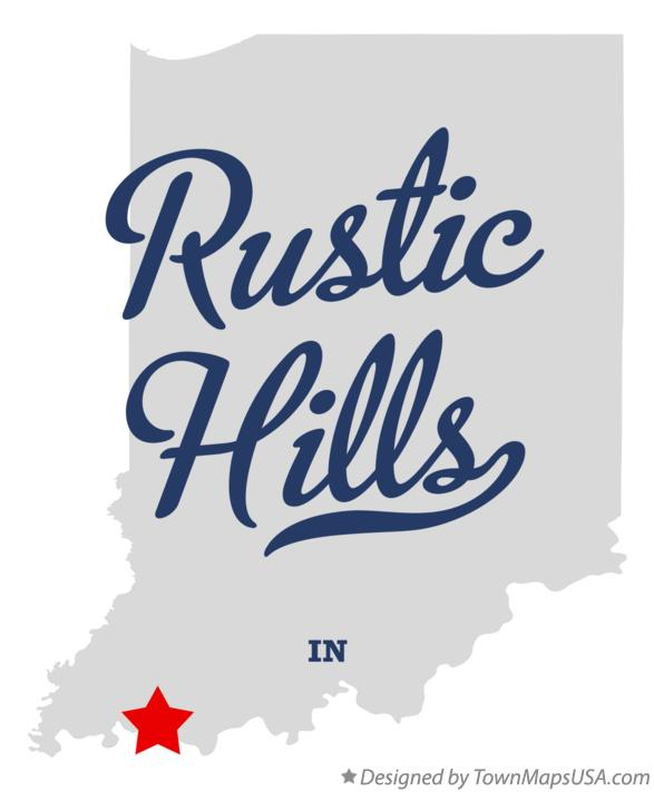 Map of Rustic Hills Indiana IN