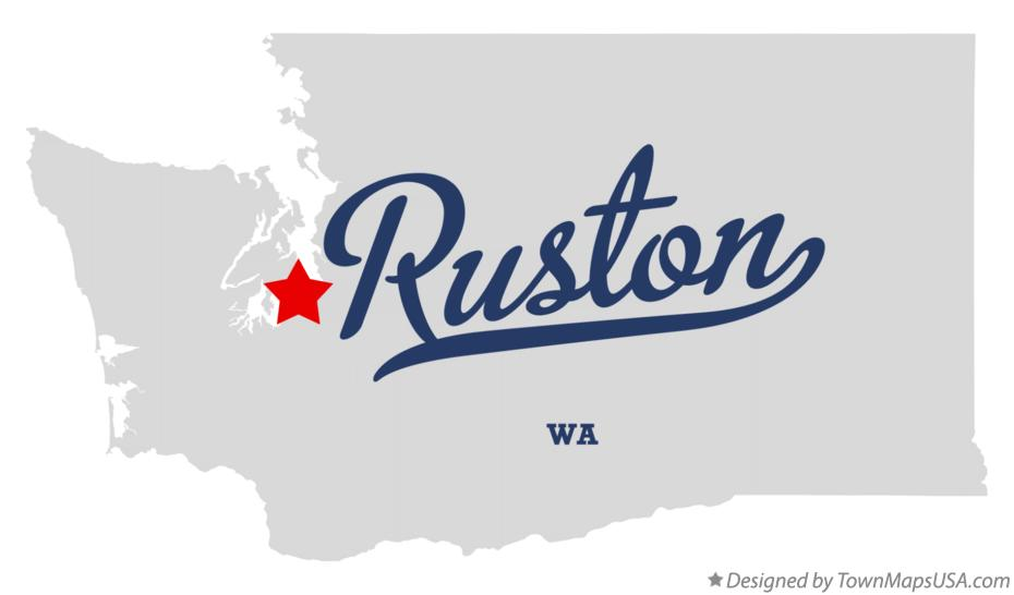 Map of Ruston Washington WA