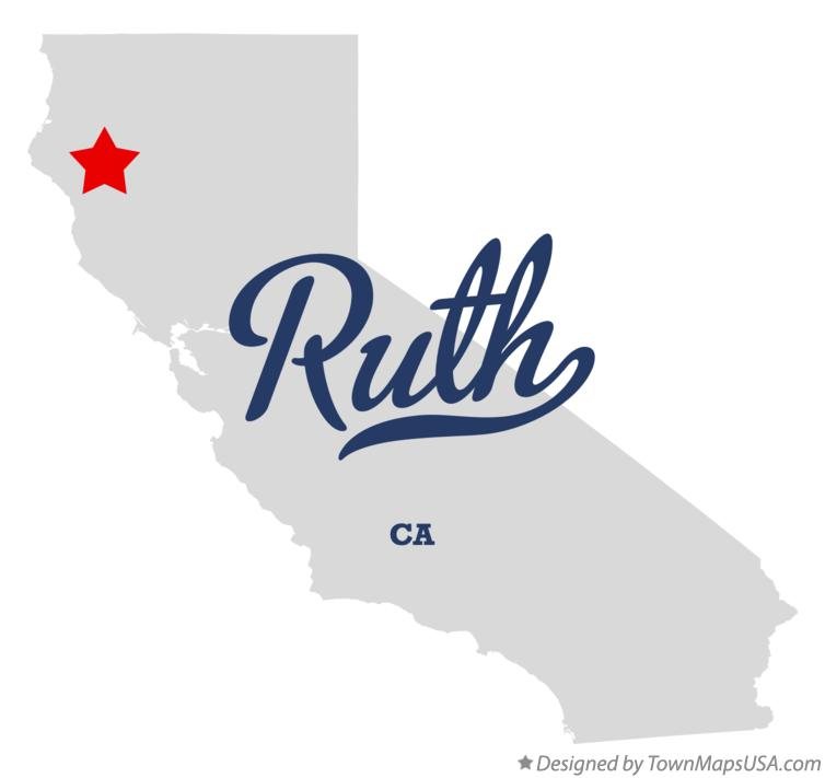 Map of Ruth California CA
