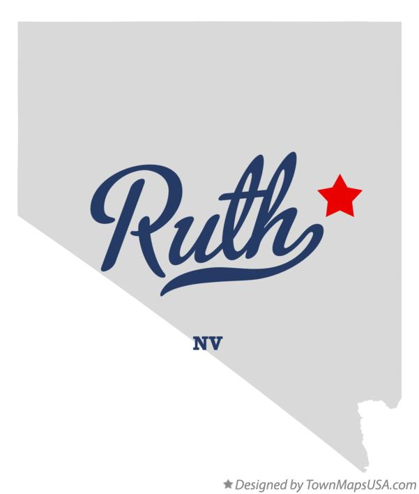 Map of Ruth Nevada NV