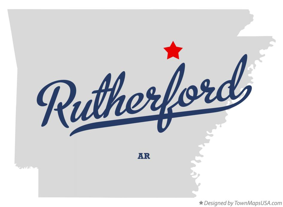 Map of Rutherford Arkansas AR