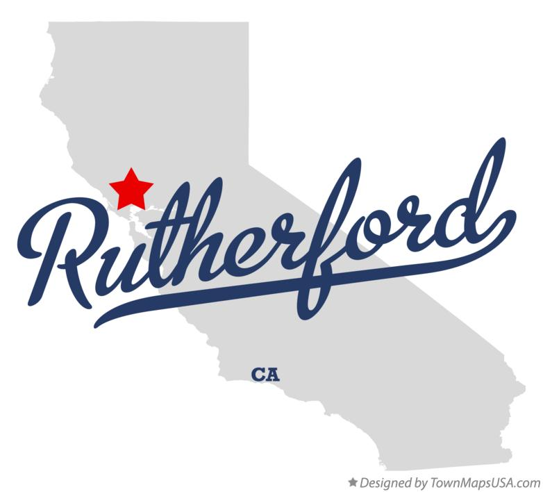 Map of Rutherford California CA