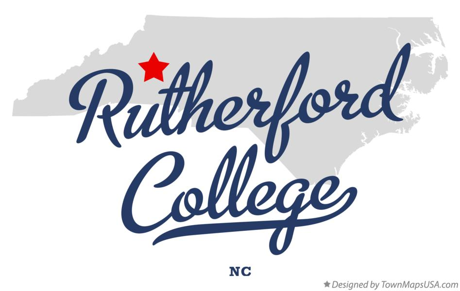 Map of Rutherford College North Carolina NC
