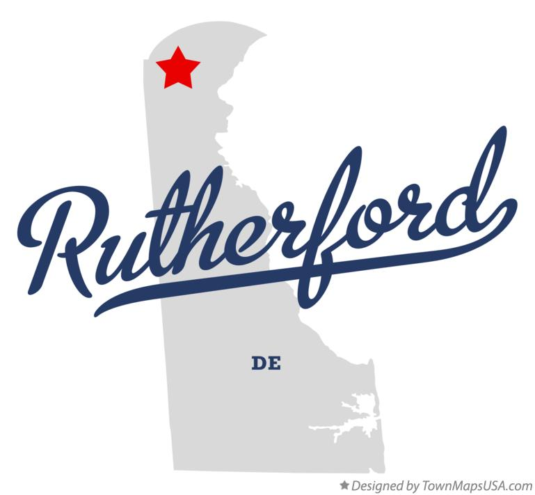 Map of Rutherford Delaware DE