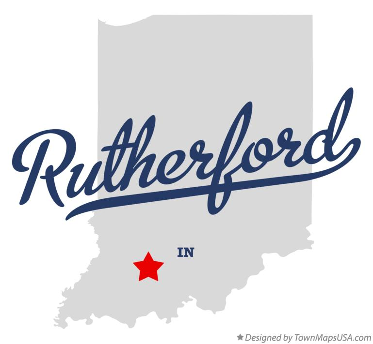 Map of Rutherford Indiana IN