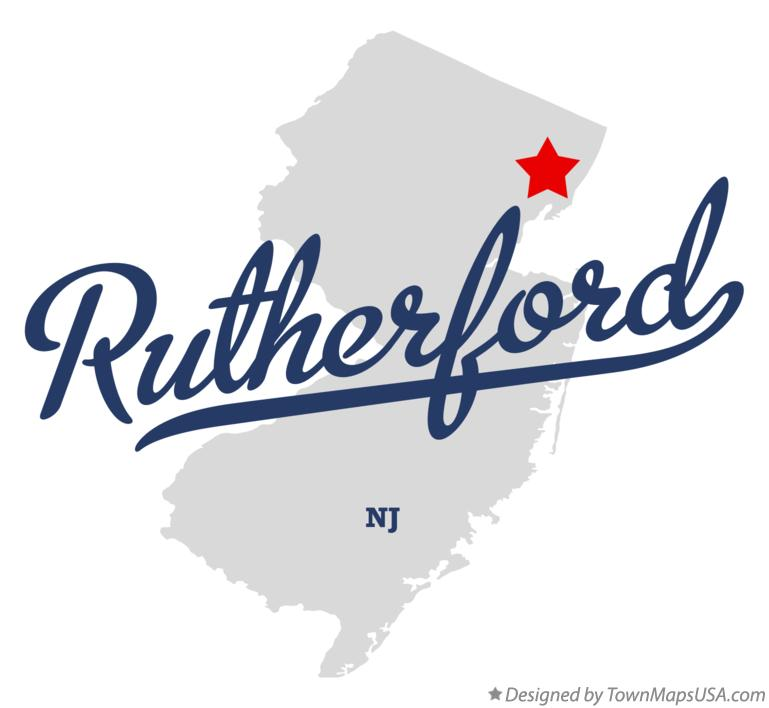 Map Of Rutherford New Jersey Nj