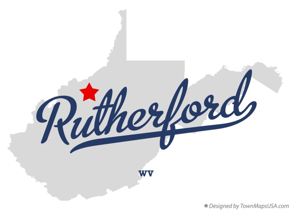 Map of Rutherford West Virginia WV