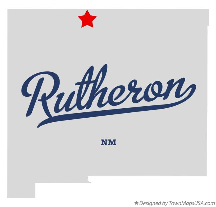 Map of Rutheron New Mexico NM