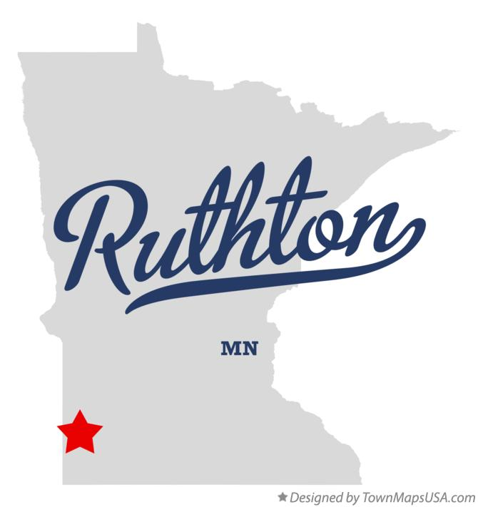 Map of Ruthton Minnesota MN