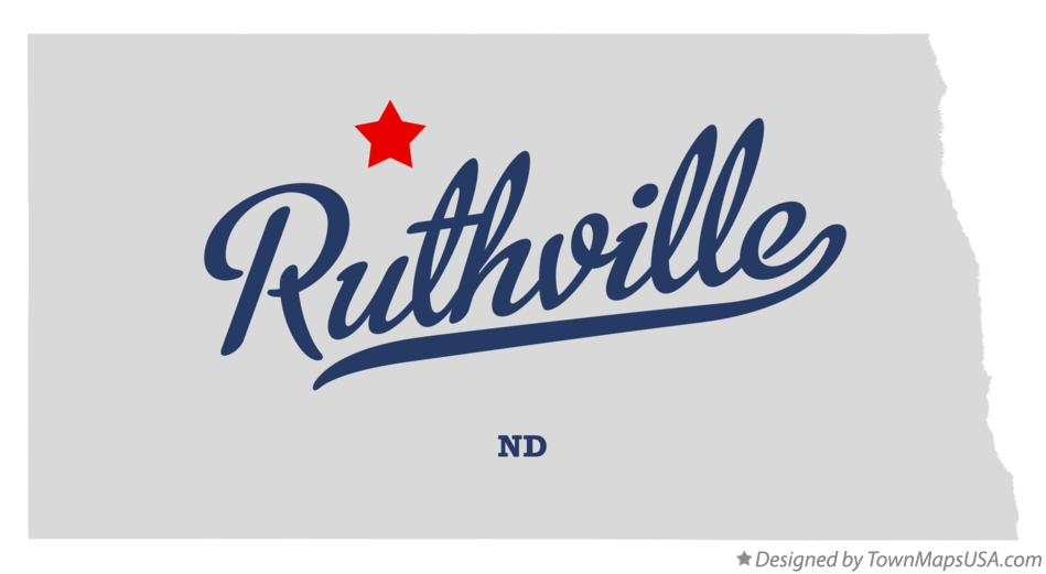 Map of Ruthville North Dakota ND