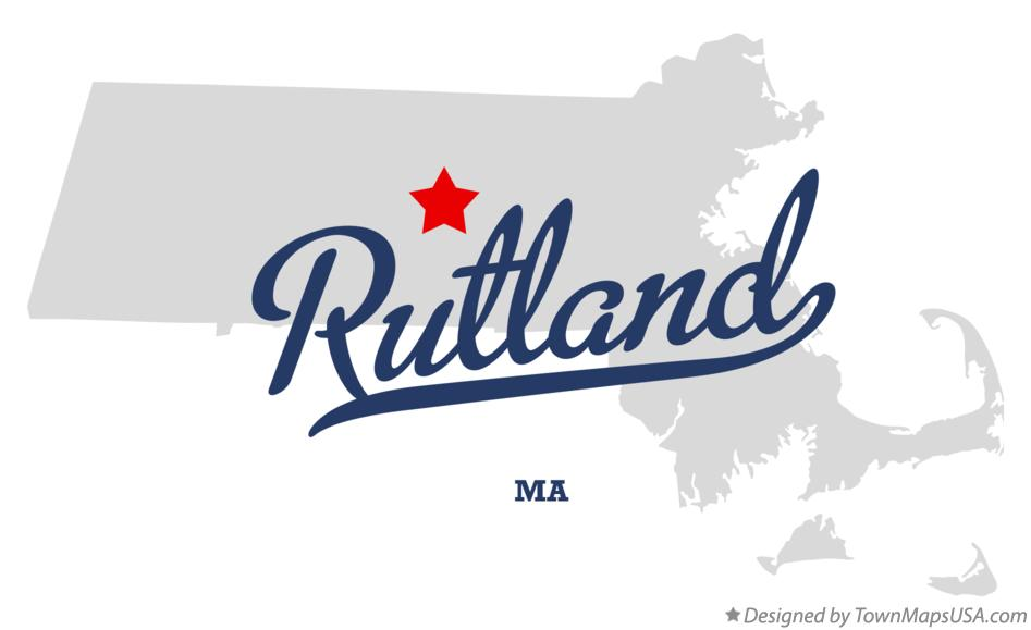 Map of Rutland Massachusetts MA
