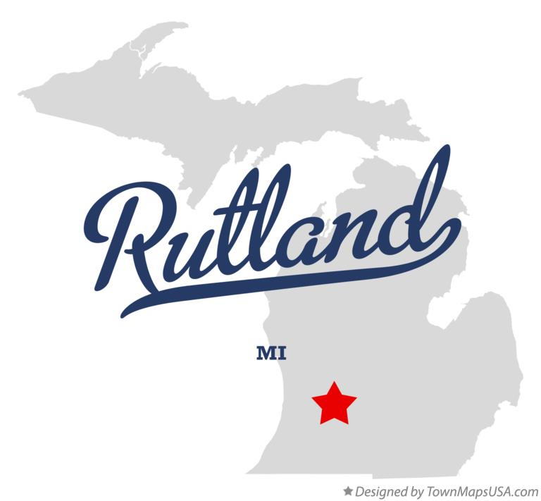 Map of Rutland Michigan MI