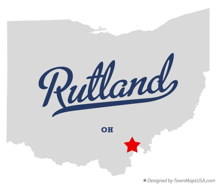 Map of Rutland Ohio OH