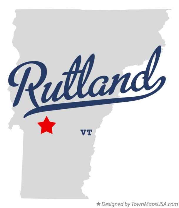 Map of Rutland Vermont VT