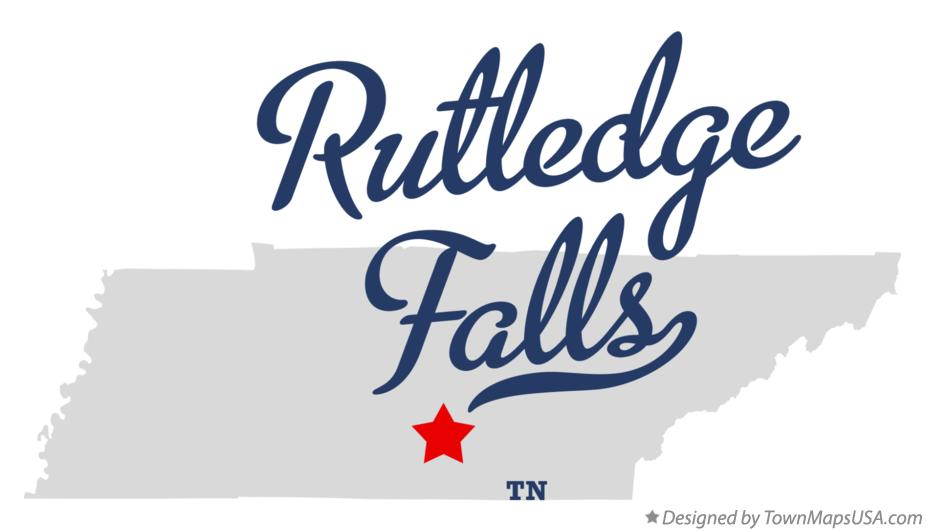 Map of Rutledge Falls Tennessee TN