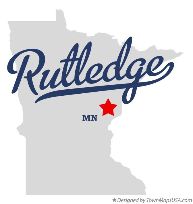 Map of Rutledge Minnesota MN