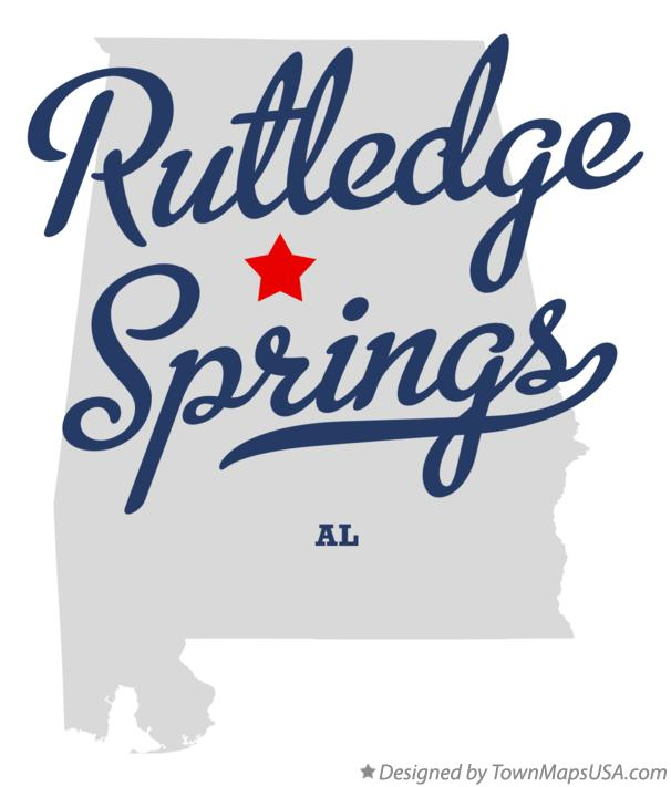 Map of Rutledge Springs Alabama AL