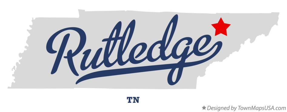Map of Rutledge Tennessee TN