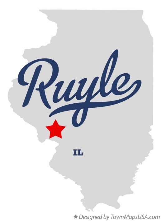 Map of Ruyle Illinois IL