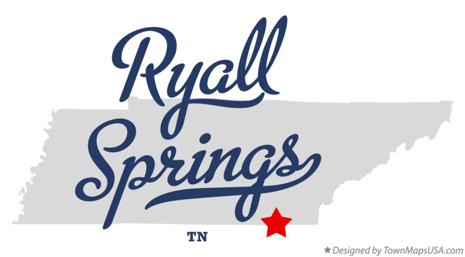 Map of Ryall Springs Tennessee TN