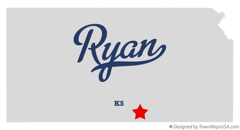 Map of Ryan Kansas KS