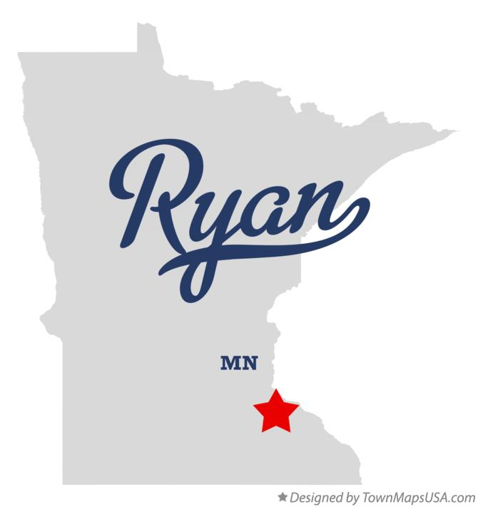 Map of Ryan Minnesota MN