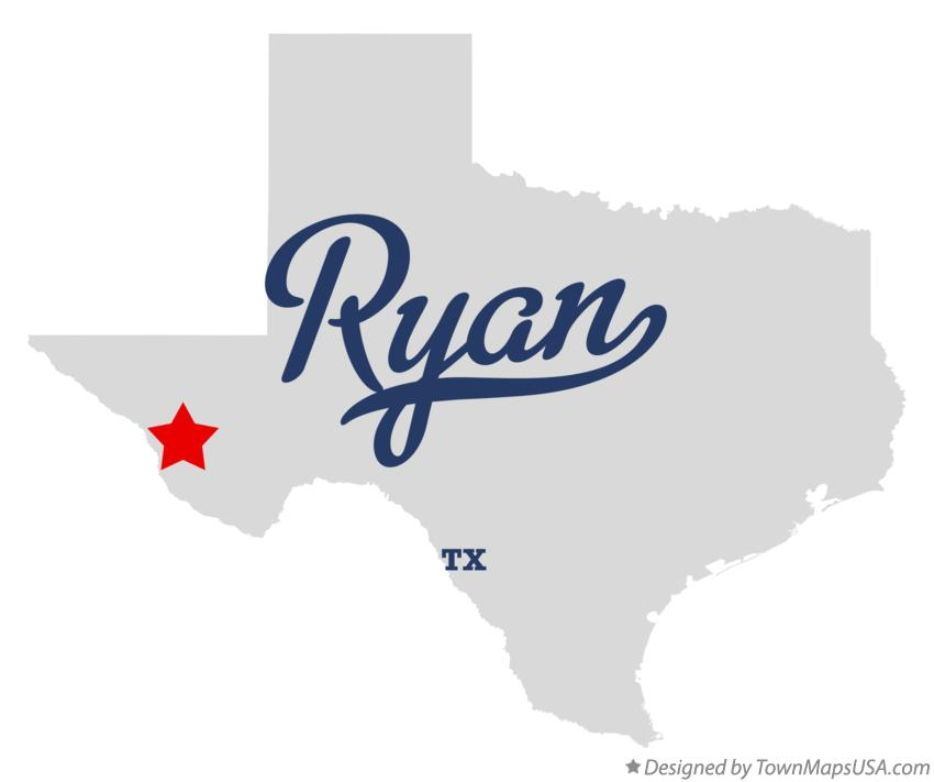 Map of Ryan Texas TX