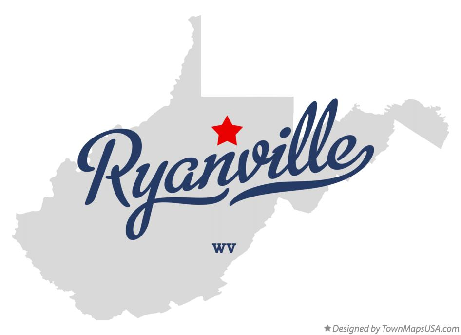 Map of Ryanville West Virginia WV