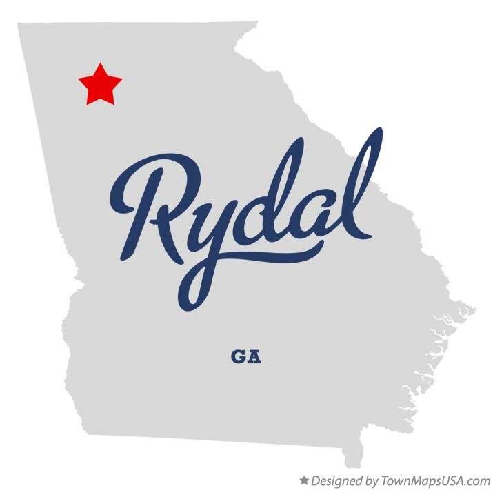 Map of Rydal Georgia GA