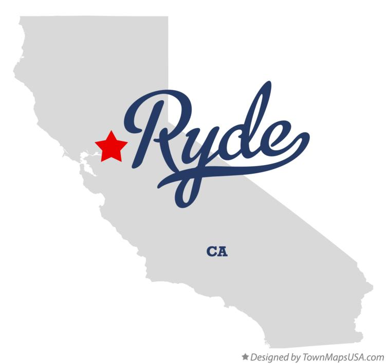 Map of Ryde California CA